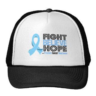 La lucha cree la esperanza - cáncer de próstata gorros bordados