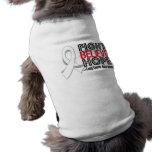La lucha cree la esperanza - cáncer de pulmón camisa de perrito