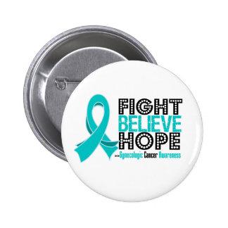 La lucha cree la esperanza - cáncer ginecológico pins