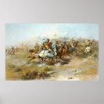 La lucha de Custer de Charles Marion Russell Impresiones