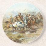 La lucha de Custer de Charles Marion Russell Posavasos Para Bebidas
