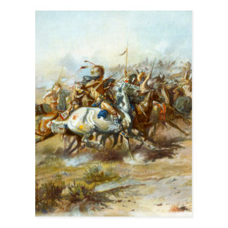 La lucha de Custer de Charles Marion Russell Tarjeta Postal