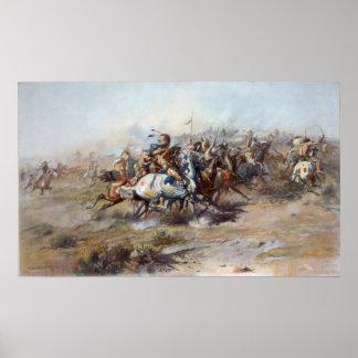 La lucha de Custer Póster