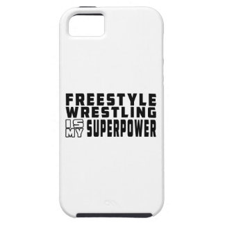 La lucha de estilo libre es mi superpotencia iPhone 5 protector
