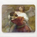La lucha de Jacob con el ángel de Rembrandt Alfombrilla De Raton