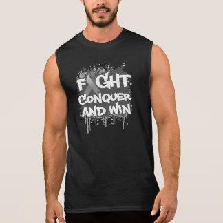 La lucha de la diabetes conquista y gana camisetas sin mangas