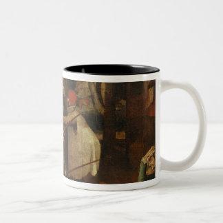 La lucha de los hombres ciegos, 1643 taza de café