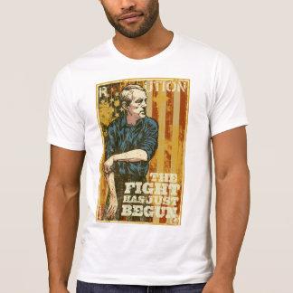 La lucha de Ron Paul acaba de comenzar la camiseta Remera