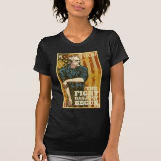 La lucha de Ron Paul acaba de comenzar la camiseta Remeras