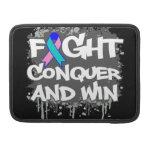 La lucha del cáncer de tiroides conquista y gana fundas para macbooks