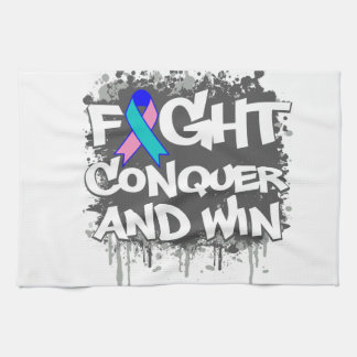La lucha del cáncer de tiroides conquista y gana toalla de cocina