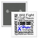 La lucha del cáncer rectal persevera triunfo super pins