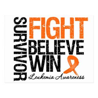 La lucha del superviviente de la leucemia cree tarjetas postales