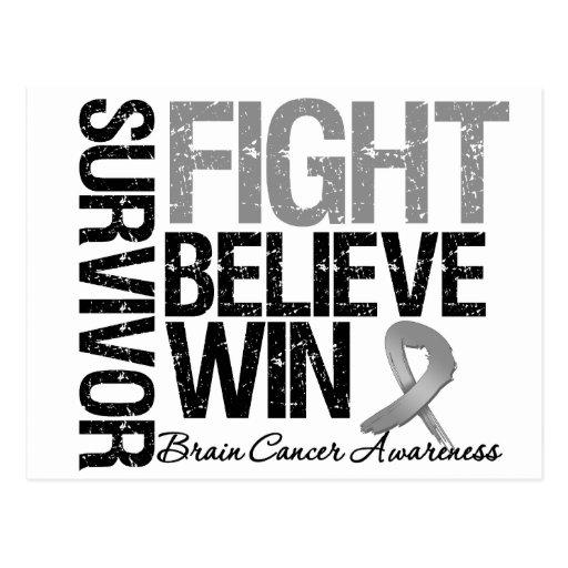 La lucha del superviviente del cáncer de cerebro c postal