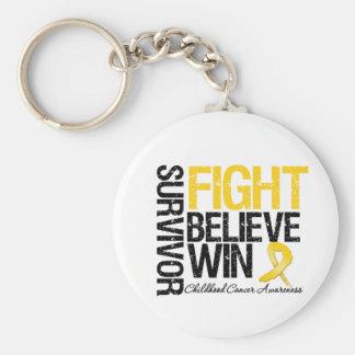 La lucha del superviviente del cáncer de la niñez  llavero redondo tipo pin