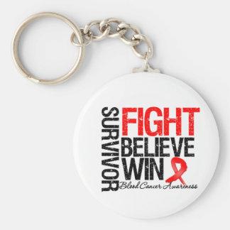 La lucha del superviviente del cáncer de sangre cr llavero redondo tipo pin