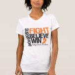 La lucha del superviviente del cáncer del riñón cr camisetas