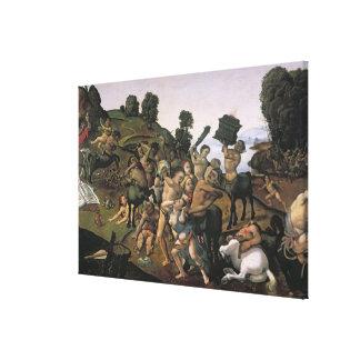 La lucha entre el Lapiths y los Centaurs Lienzo Envuelto Para Galerías
