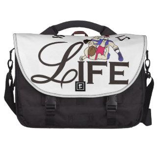 La lucha es vida bolsas para portatil