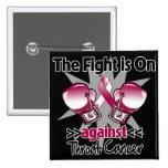 La lucha está encendido contra cáncer de garganta pin