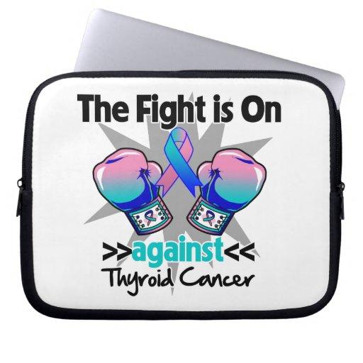 La lucha está encendido contra cáncer de tiroides funda portátil