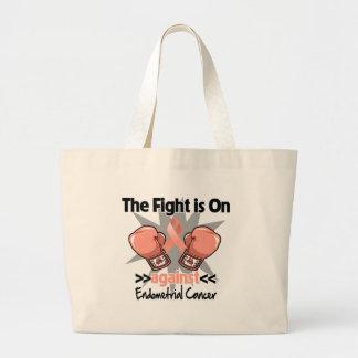 La lucha está encendido contra cáncer endometrial bolsa tela grande