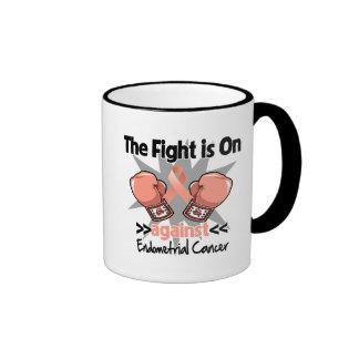 La lucha está encendido contra cáncer endometrial tazas