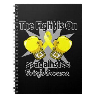 La lucha está encendido contra el sarcoma de Ewing Libro De Apuntes Con Espiral