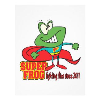 "la lucha estupenda de la rana vuela desde 2011 folleto 8.5"" x 11"""