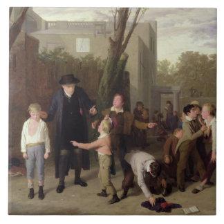 La lucha interrumpida, 1815-16 azulejo cuadrado grande