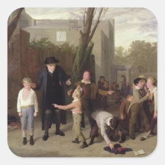 La lucha interrumpida, 1815-16 calcomania cuadradas personalizada