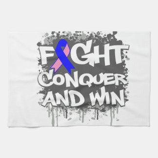 La lucha masculina del cáncer de pecho conquista y toallas de mano