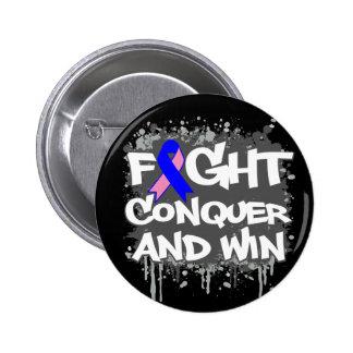 La lucha masculina del cáncer de pecho conquista y pin