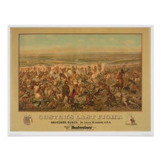 La lucha pasada de Custer (2610A) Póster