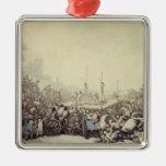 La lucha premiada, 1787 (pluma, tinta y w/c sobre  ornamento de navidad
