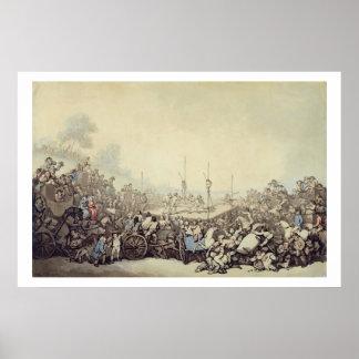 La lucha premiada 1787 pluma tinta y w c sobre poster