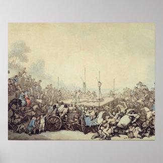 La lucha premiada, 1787 (pluma, tinta y w/c sobre  impresiones