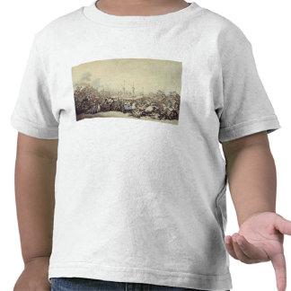 La lucha premiada, 1787 (pluma, tinta y w/c sobre  camiseta