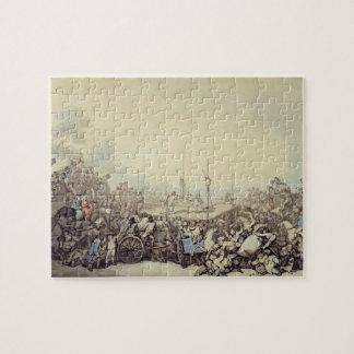 La lucha premiada 1787 pluma tinta y w c sobre rompecabezas con fotos