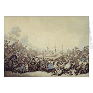 La lucha premiada, 1787 (pluma, tinta y w/c sobre  felicitación