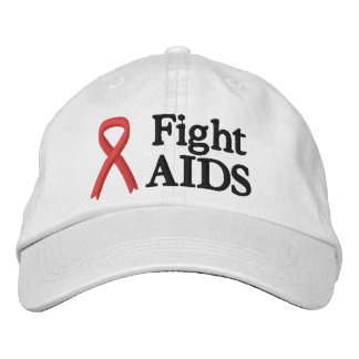 La lucha roja de la cinta ayuda al gorra gorra de béisbol