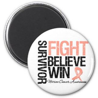 La lucha uterina del superviviente del cáncer cree imán redondo 5 cm