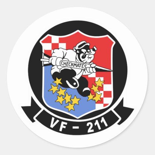 La lucha VF-211 da jaque mate Pegatina Redonda