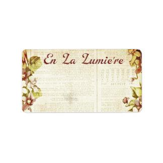 La Lumiere 1,25 x del En septiembre de 2012 de Etiqueta De Dirección