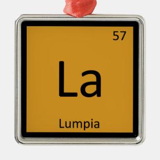 La - Lumpia Appetizer Chemistry Periodic Table Christmas Ornament