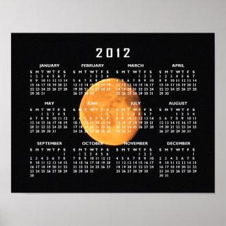 La luna amarilla grande Calendario 2012 Posters