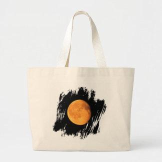 La luna amarilla grande; Ningún texto Bolsa Tela Grande