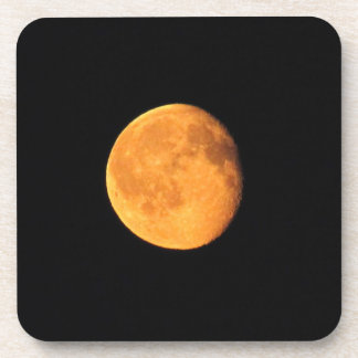 La luna amarilla grande; Ningún texto Posavasos