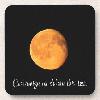 La luna amarilla grande; Personalizable Posavasos
