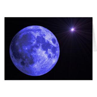 La luna azul que le falta carda tarjeta de felicitación